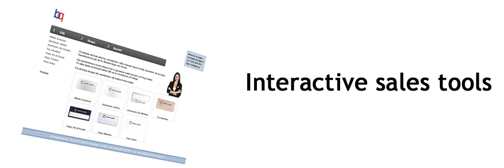 Interactive sales tools